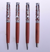 High quality simple design promotional wooden metal pen sets