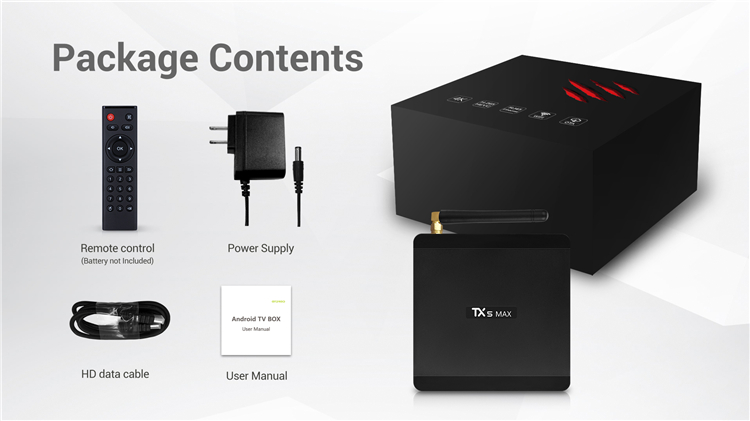 Most popular tv box TX5 MAX quad-core 4GB DDR4 smart exuby tv box s905x2 4g 32g new amlogic chipset 4g ram