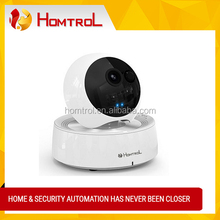 720P HD WIFI Surveillance IP Camera with PTZ Night Vision Support Home 64 Wireless Alarm Sensors for Home Security (White)