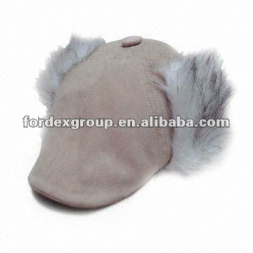 Promotional Hat, Men' Beret, with Fake Fur Ear Warmer Flap, Suitable for Winter