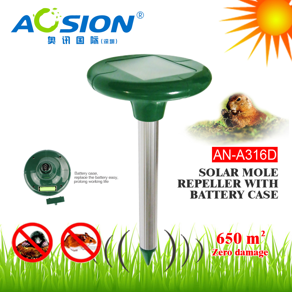 Aosion solar powered vole controller by emitting powerful sound waves for garden lawn use