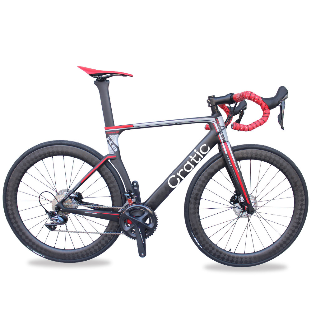 High quality T700 AERO carbon fiber disc brake complete racing road bike for sale