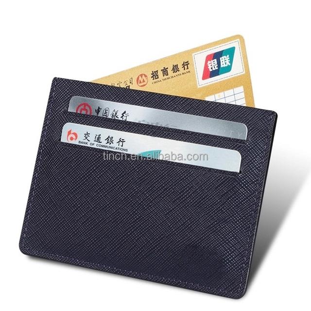 Men Slim Genuine Leather Men & Women Credit Card Holder wallet