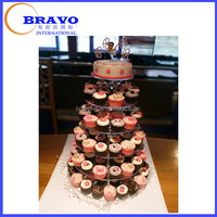 7 Tier Acrylic Square Round Tower Cupcake Stand Wedding Birthday Anniversary Party