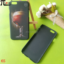 Custom red wine brand give away gifts hard plastic matte black cell phone case for Iphone 6