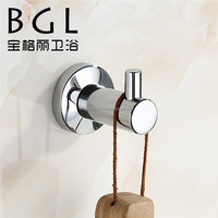 2015news stainless steel 304 accessories for bathroom Wall mounted Chrome finishing robe hook