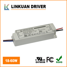 UL TUV-CE High Efficiency 20-40V 50W 1500MA led driver ip65 for Led lights