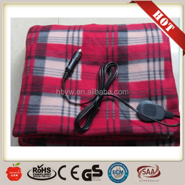 Cheap Car used 12v Heated Electric Blanket from factory with CE certificaiton
