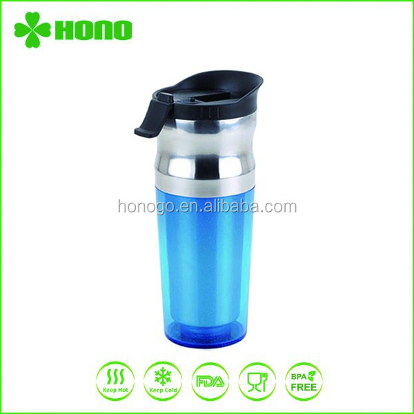 Double wall stainless steel travel mug inserts