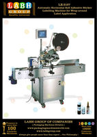 Automatic Horizontal Self Adhesive Sticker Labelling Machine for Wrap around Label Application