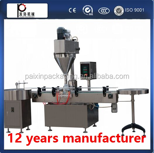 Easy operation Diabetes milk powder filling capping machine ,shanghai factory price