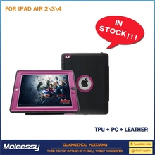 New pu magnetic leather case cover motherboard for ipad 234