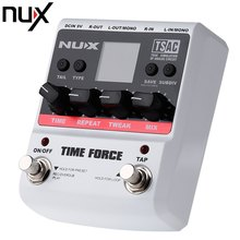 NUX Time Force Multifunction Digital Delay Guitar Pedal Effects Equipment True Bypass Design with Aluminum Alloy Housing