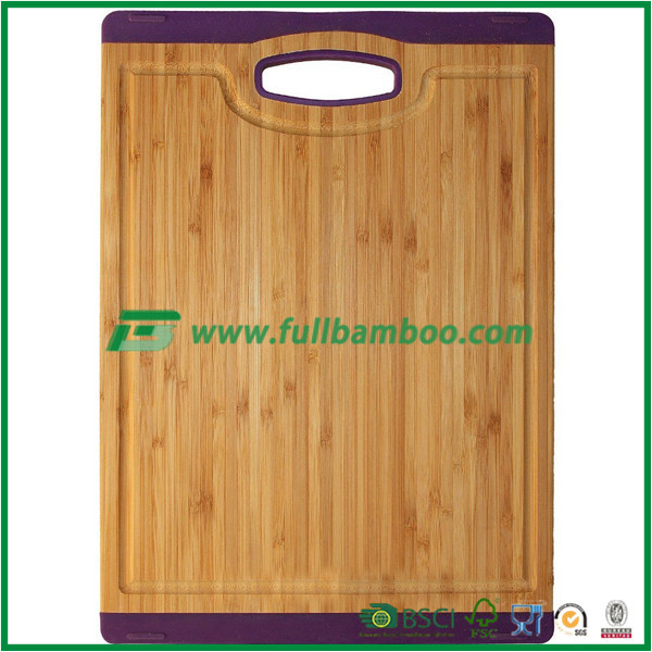 meat bamboo cutting board set, potato board, tempered large cutting board set with plastic safe guard