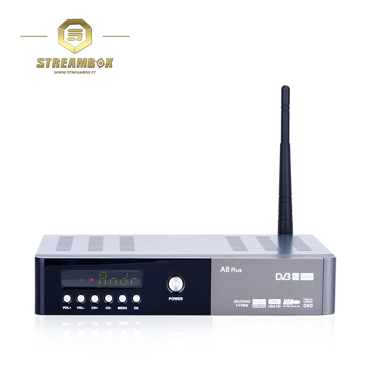 New arrivals 2017 4k quad core Hisilicon Hi3796 A8 Plus smart android tv box digital satellite receiver