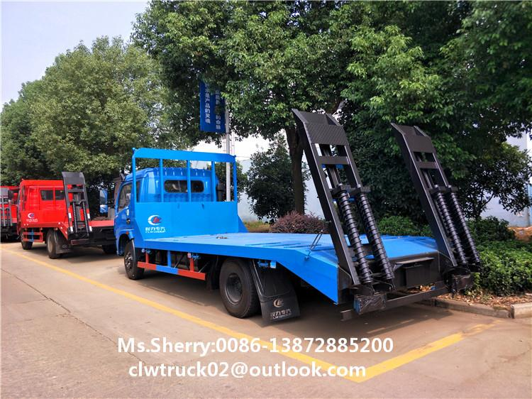 Widely Used Excavator Truck Dongfeng 4x2 Flatbed Transport Truck