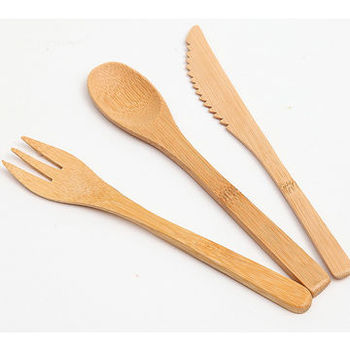 Wholesale factory price dispoaable hot sale bamboo knife fork and spoon japanese kitchen knife