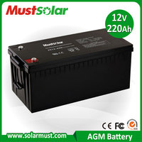 Sealed 12V 220AH Lead Acid Electric power tool Battery Made in China Manufacturer