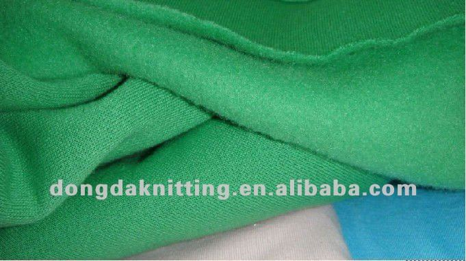 32S 60% cotton 40% polyester CVC fleece knitted fabric
