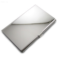 Custom business credit card holder stainless steel metal card case