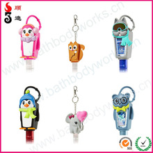 Animal bbw silicone 3d animal shapes silicone hand sanitizer holder/silicone perfume holder gifts