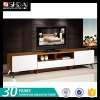 Factory supply custom color modern new model tv stand wooden furniture tv showcase