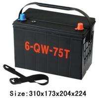 auto spare part 12 volta lead acid battery 74AH 57413