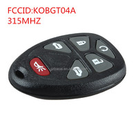 GMC 5+1 button Keyless Entry Remote KOBGT04A smart shell and car starter remote