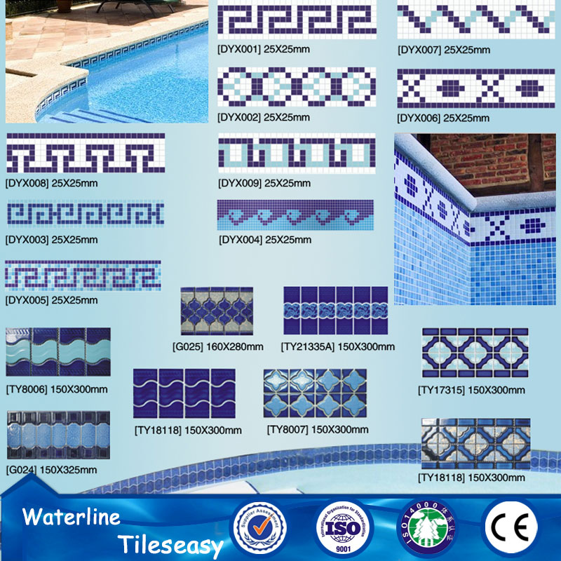 individual glazed ceramic finishing trim tile for swimming pool design