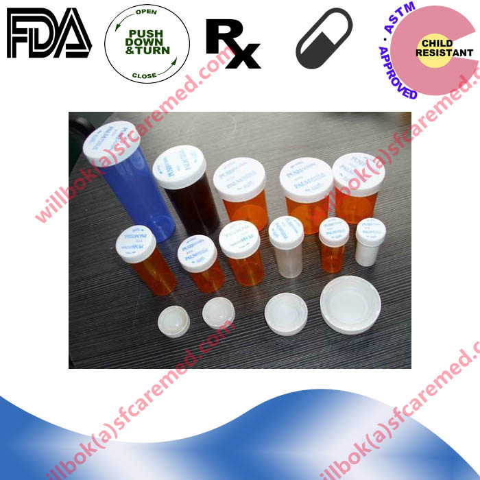 Rx Push down turn snap childproof Plastic crc cap vials