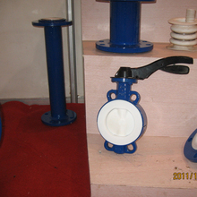 handle lever WCB wafer fluorine butterfly valve