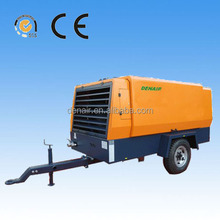 portable super works air compressor for heavy earth crawling machinery