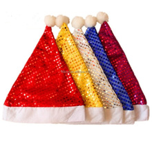 Shining 37cm Santa Christmas Fabulous Felt Hat for Holiday Parties