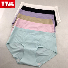 High quality Seamless women underwear ice silk panty ladies girls triangle tight kiss panties