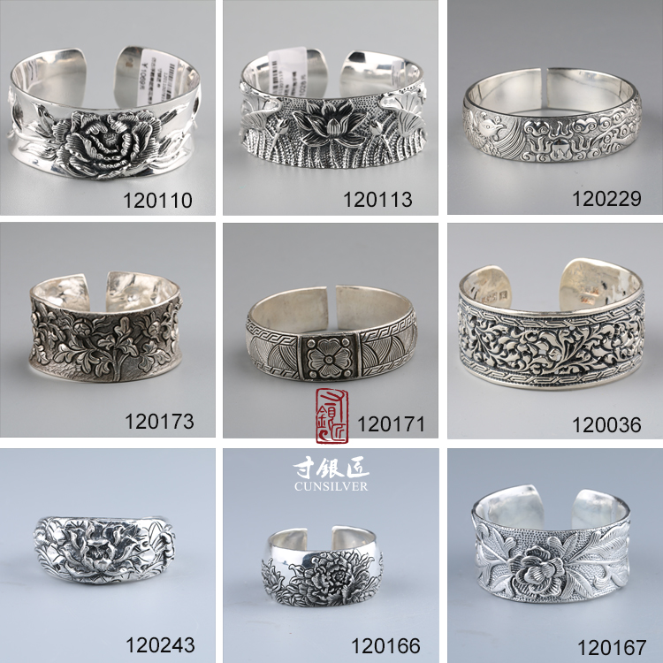 OEM Custom Cunsilver Craftsmen Perfect Design Handmade Sterling Silver bracelets rings jewelry set