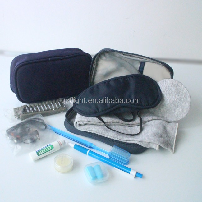 Full set travel comfort airline amenity kit