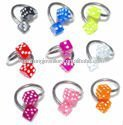 Color de moda dados cbr body piercing joyería