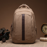 High Quality Fashion Canvas computer backpack College bags used laptop