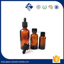 Wholesale 15ml 20ml Empty Frosted Amber/Cobalt Blue/Clear/Green Essential Oil Glass Bottle With Screw Cap Or Dropper