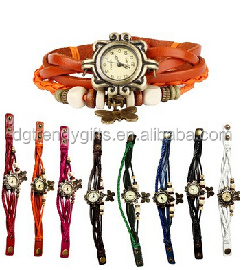 Genuine Leather Bracelet Watch Women Vintage Lady Watch Relogio Feminino Relojes Butterfly