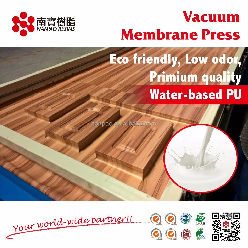 Water based PU glue for Vacuum Membrane Press Machine Appliacation