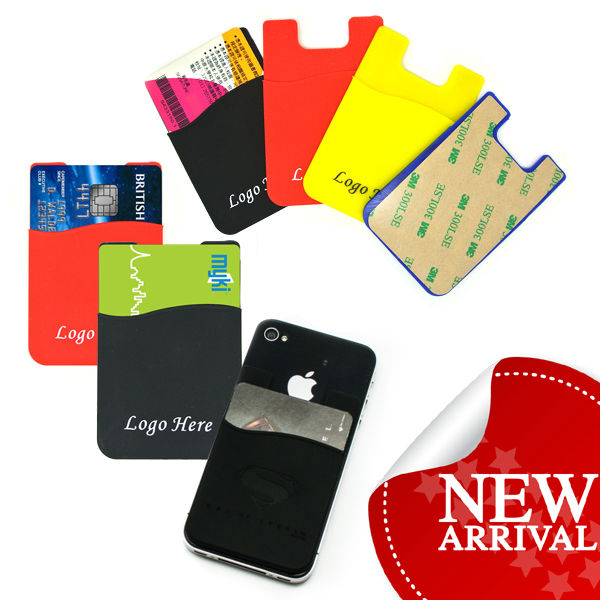 Promotion LOGO Custom stylish silicone wallet mobile smartphone pouch