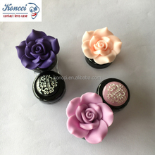 flower pink black contact lens box rose contact lens cases CL-Y004