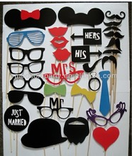 Paper Beard/Mustache/Glasses/Bow/Mouth-party props HOT PRODUCT