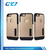 2 in 1 TPU+PC stand case for iphone 6 with dust cap