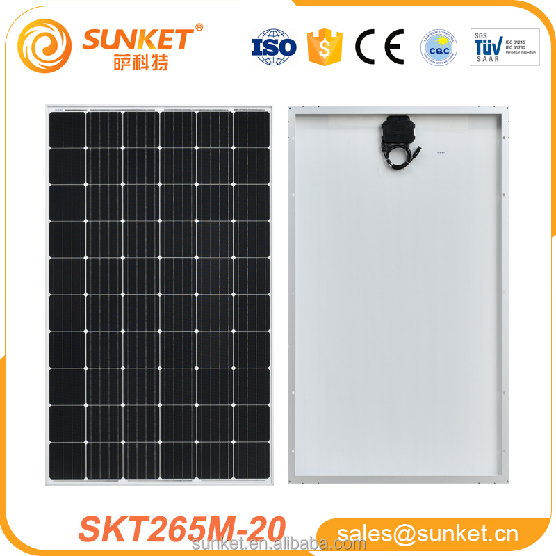 High Efficiency 265w mono photovoltaic solar panel