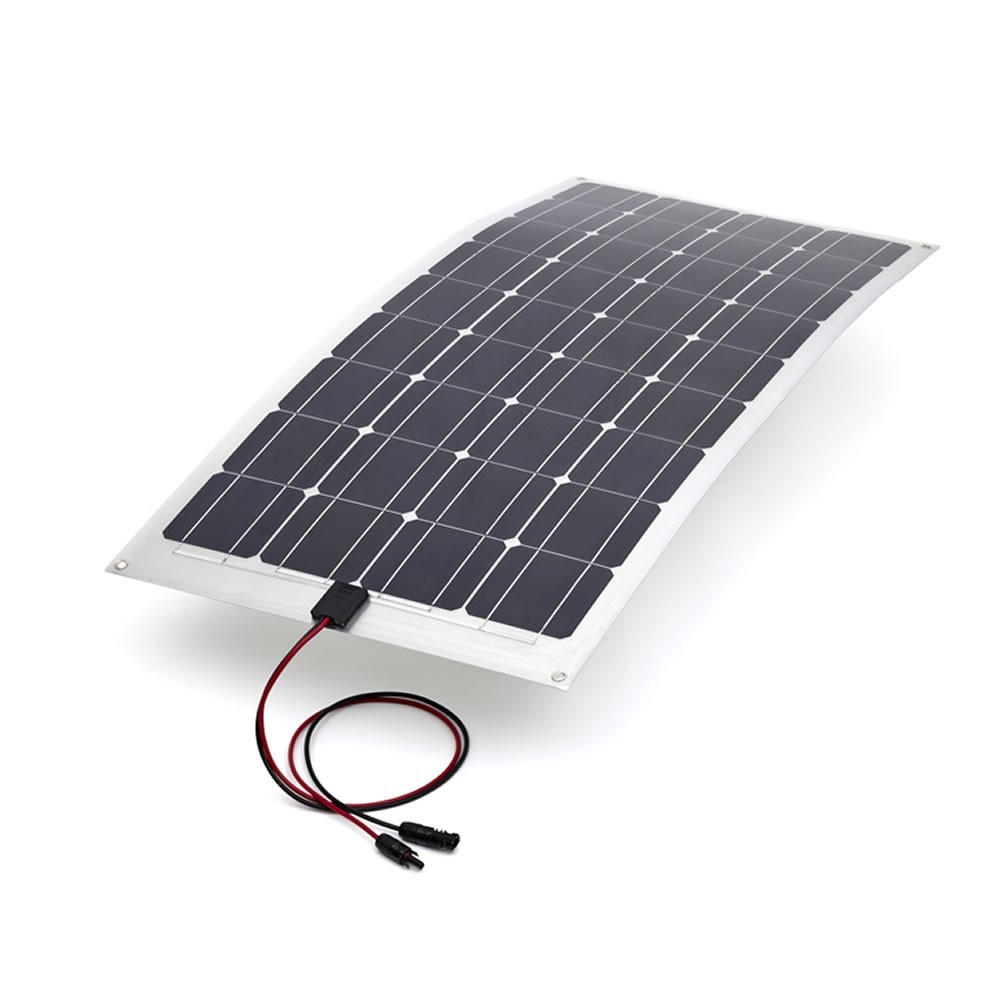 High Efficiency 100w 12v mono flexible solar panels back contact for boat
