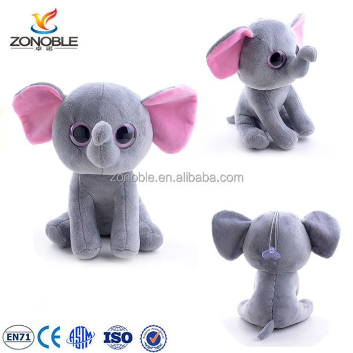 Cute children soft toy plush and stuffed elephant toy with big eyes
