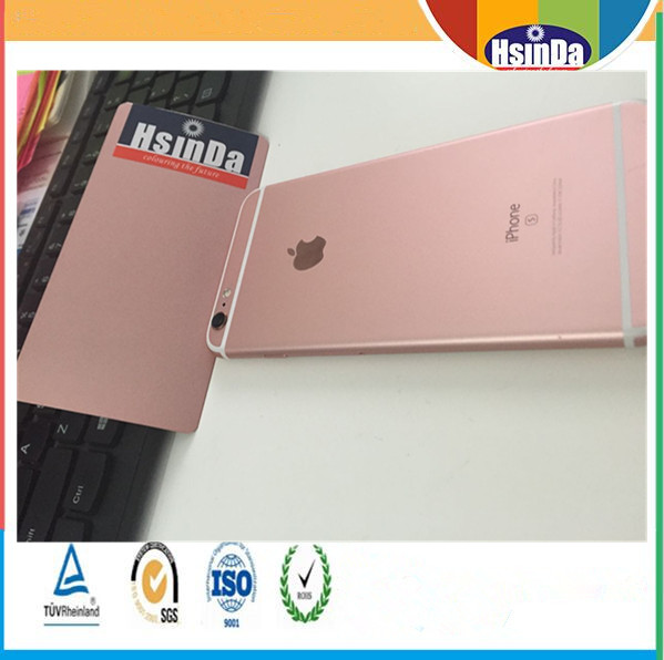 Hsinda Customized Imitate Iphone Rose Gold Metallic Spray Paint Powder Coating