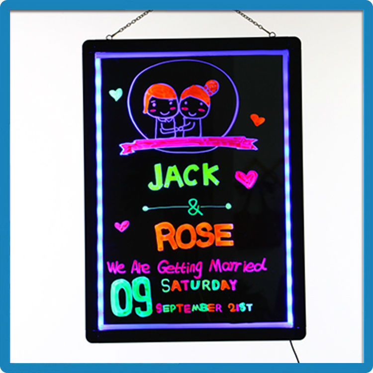 Ali express china neon effect drawing board led drawing board